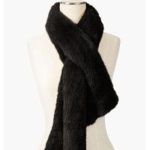 Talbots Accessories - Talbots Faux-Fur Pull Through Scarf
